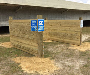 Oyster shell recycling drop-off
