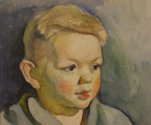 Portrait of Howard, Watercolor. 10in. x 13in. 1936, Gift of Katherine & Howard A. Cook.