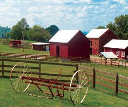 A Farm With a Barn