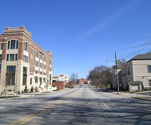 E Main and Pine Streets in Spartanburg